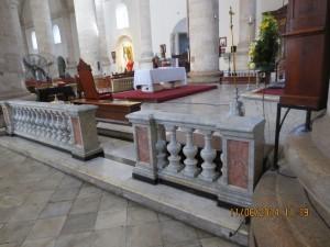marble altar rail