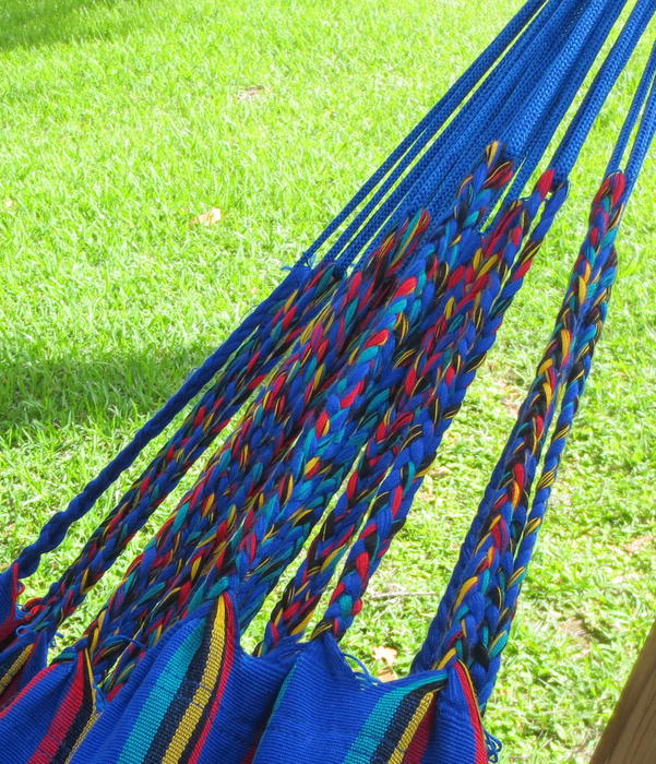 Cartagena Blue Dominant Hammock End Detail