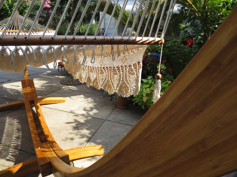 Bamboo Stand and Royal Wedding hammock.