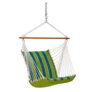 Soft Comfort Cushion Hanging Chair, Wickenburg Teal/Cobble Willow