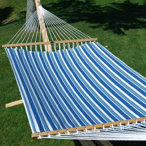 Tropical Palm Stripe Blue