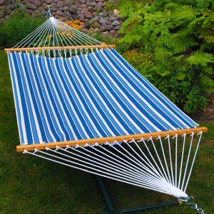 Tropical Palm Stripe Blue-135