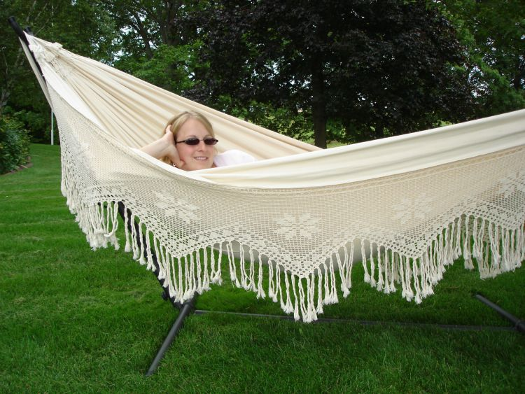 Medium image of double deluxe brazilian style hammock