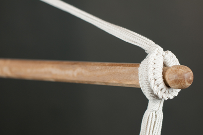Organic cotton hamock chair detail