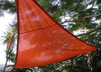 Orange Party Shade Sail