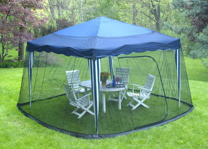 Gazebo mesh netting